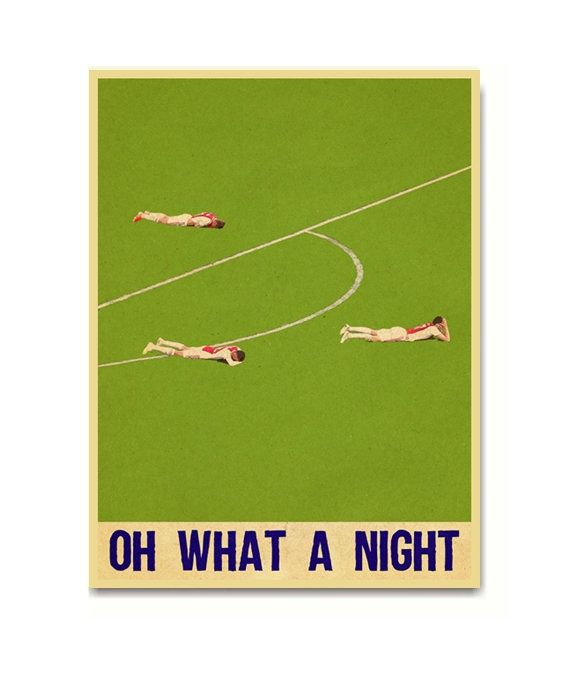 Tottenham Hotspur Vs Ajax Oh What A Night Poster Art Print Posters Art Prints Poster Art Art Prints Quotes