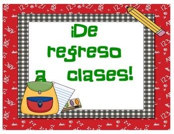 Actvidades para el inicio de clases !en español!