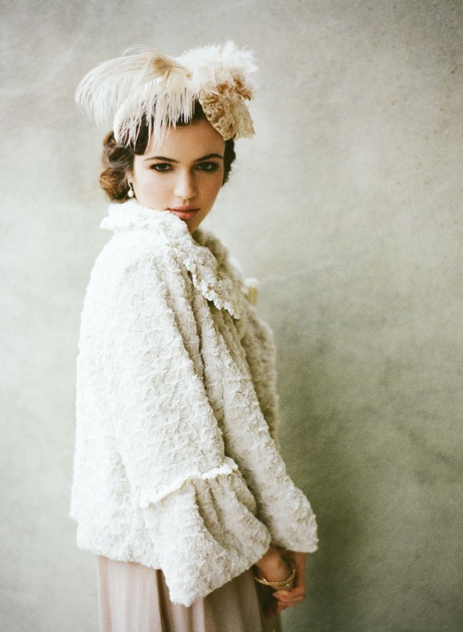 Bit over the top and wedding-y, but still a pretty cool look: Wedding Dressses, Vintage Wedding, Bridal Collection, Wedding Dresses, Hair Pieces, Winter Wedding, Retro Fashion, Headpieces, Ruched Bridal