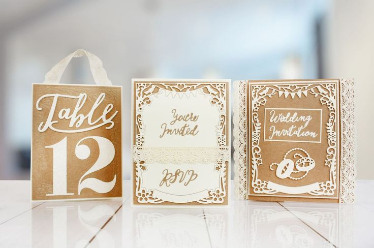 Handmade Weddings are all the range and you can make your own special day with the @tatteredlaceuk Bridal Frame and Table Number Die Multibuy! / homemade wedding / wedding planner / weddings / craft