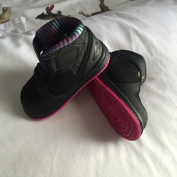 Infant Nike Jordans Baby girl Nike Jordan never used, bought too big, when it was time for her to use it, it became too small. Nike Shoes Athletic Shoes