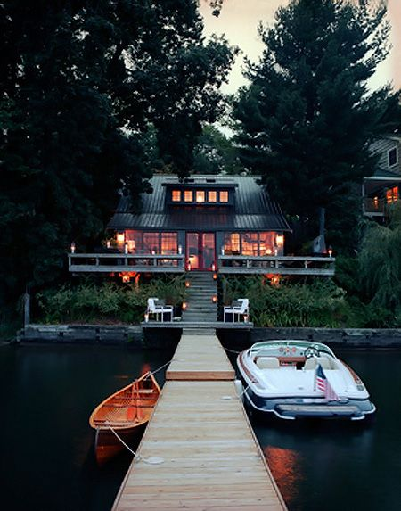 By the waterLakehouse, Cabin, Lake Houses, Dreams Home, Lakes House, Boats, Dreams House, Places, Lakes Living