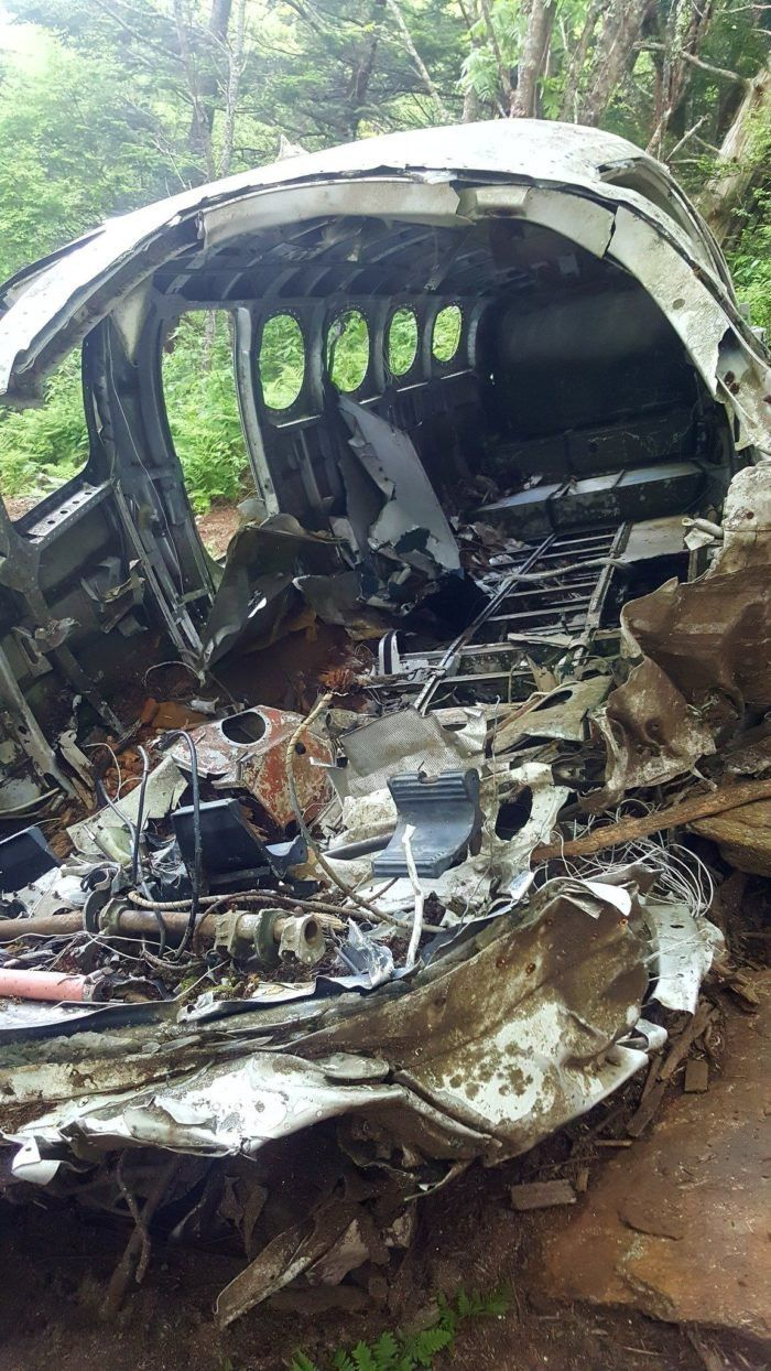 The plane crashed shortly before 6 p m  The two people aboard the