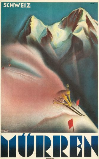 Twenty of the best vintage ski posters - Telegraph