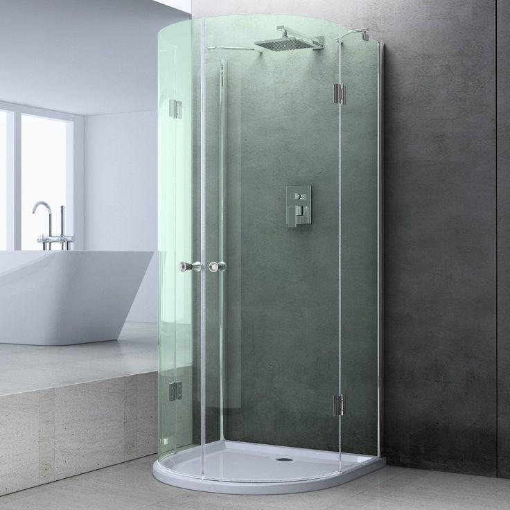 box doccia vetro trasparente semicircolare