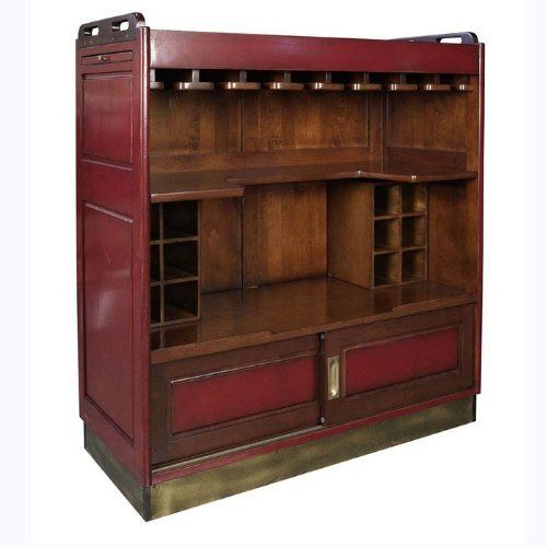 Casablanca Portable Bar And Storage Cabinet By Brookstone. $1954.79. In  Red. Wheels.