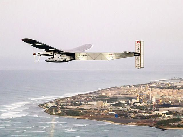 Slideshow : Solar Impulse 2 makes first maintenance flight - Sun-powered plane Solar Impulse 2 makes first maintenance flight in Hawaii - The Economic Times