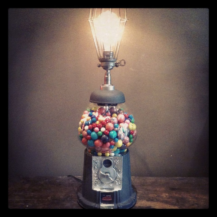 Gumball Machine Lamp-it even works!