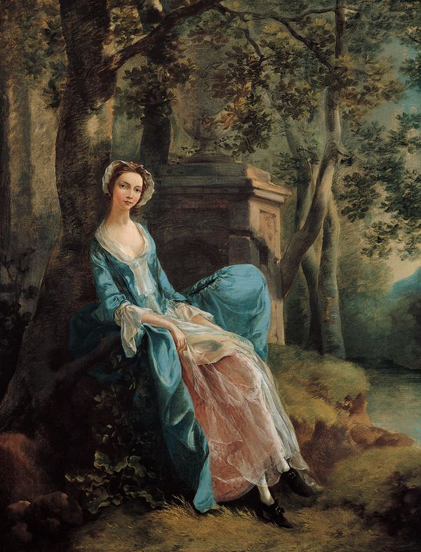 Thomas Gainsborough, Portrait of a Woman, Possibly of the Lloyd Family c. 1750 - Thomas Gainsborough - Wikipedia