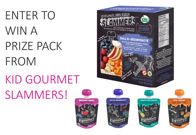 Win 1 of 3 cases of all 4 flavours of Slammers Super Food Snacks from Kid Gourmet Slammers!