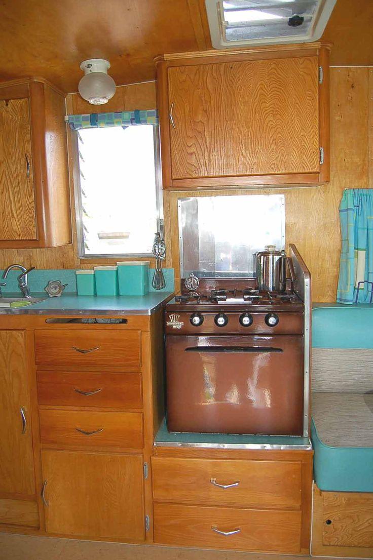 vintage schultz travel trailer interior | ... vintage mid-century kitchen accessories in 1959 Shasta Airflyte Travel