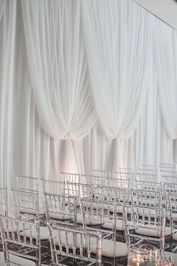 Trending-20 Gorgeous Wedding Ceremony Ideas with Draped Fabric for