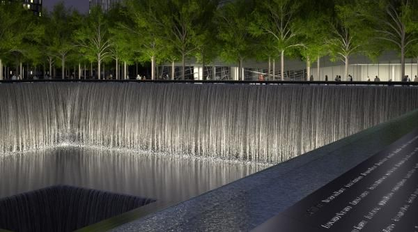 9/11 Memorial Designed by: Peter Walker http://www.archdaily.com/168153/in-progress-911-memorial-and-museum/