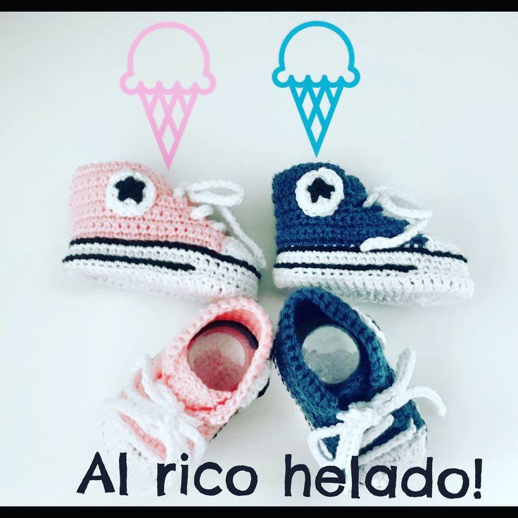 Converse crochet para el niño y la niña!!!