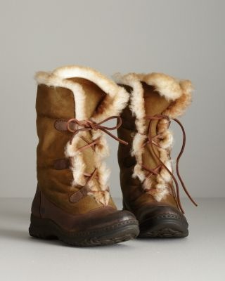 Garnet Hill | Børn Filo Cuffed Shearling Boots    Absolutely no reason for these in Los Angeles, and yet, I Want!