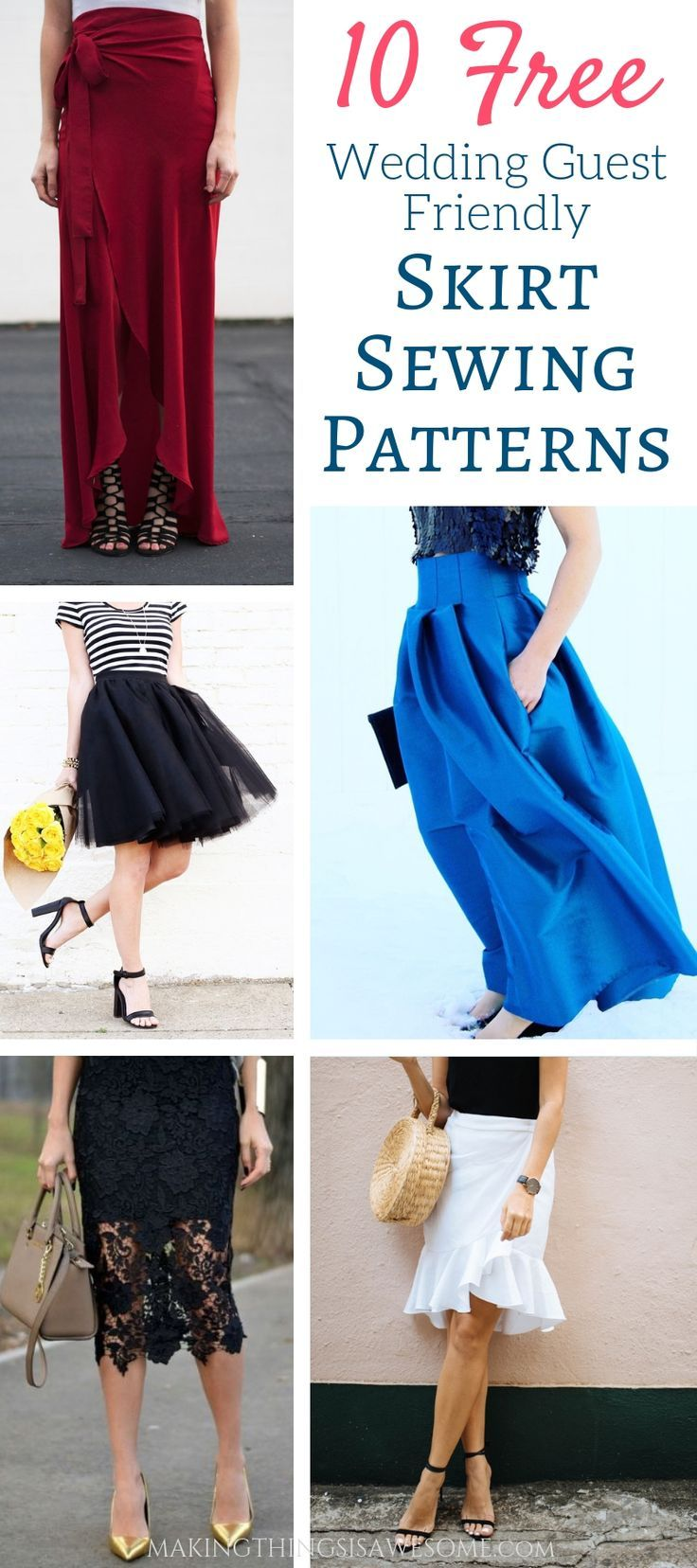 10 Free Wedding Guest Friendly Skirt Sewing Patterns Makingthingsisawesome Com Freesewingpatterns S Diy Skirt Skirt Patterns Sewing Dress Sewing Tutorials [ 1656 x 736 Pixel ]