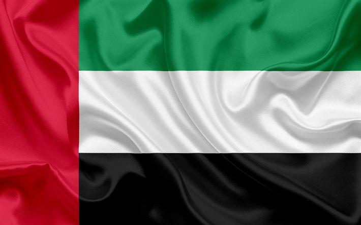 Descargar fondos de pantalla Bandera de Emiratos Árabes Unidos, Bandera de EMIRATOS árabes unidos, Oriente, Asia, Emiratos Árabes Unidos, EMIRATOS árabes unidos