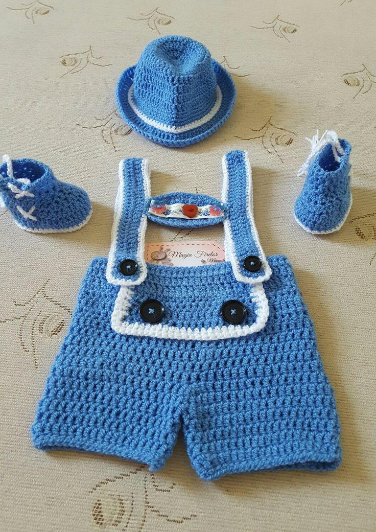 Costum pt sedinta.foto,.costum pt baietei,.crochet costume for shooting