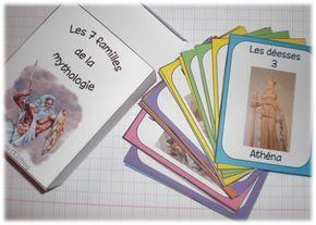 Le jeu des 7 familles de la mythologie grecque basé sur le Feuilleton d'Hermès.