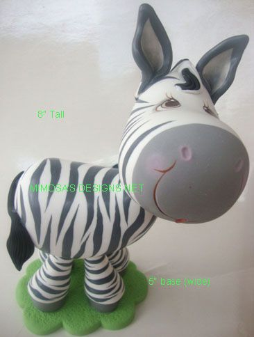 Zebra XL Cake Topper