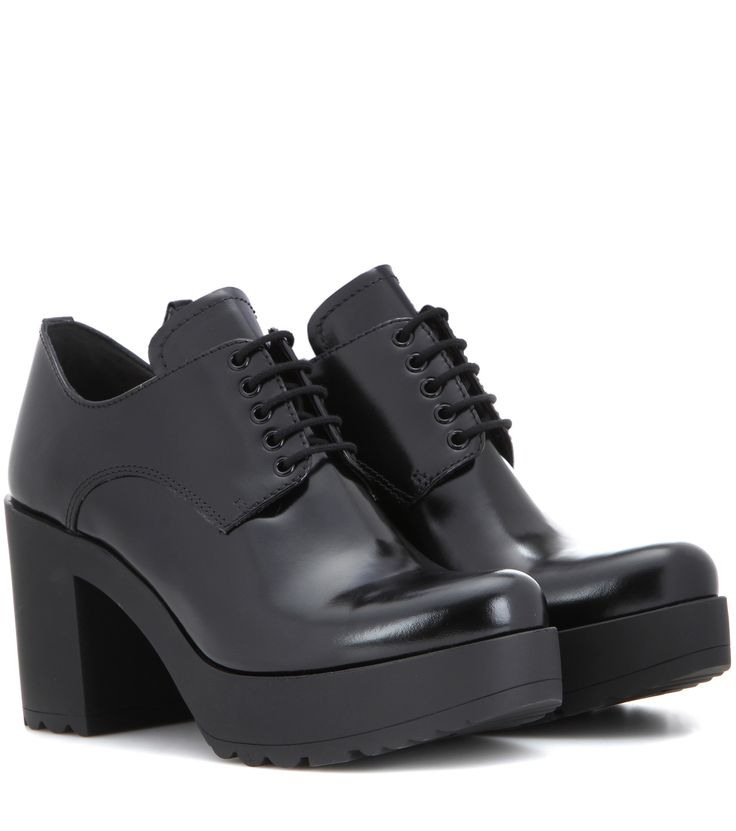 Prada Leather derby pumps Black             $139.00