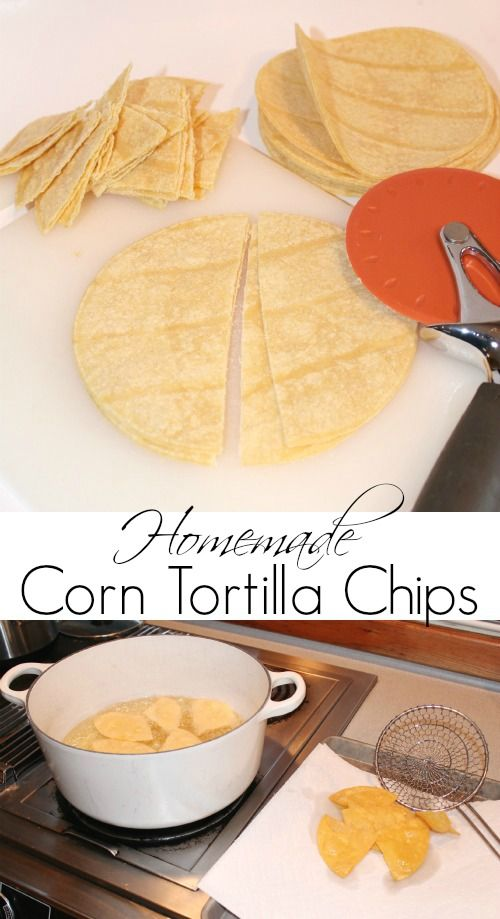 Easy Homemade Tortilla Chips Recipe for your big Super Bowl Party!
