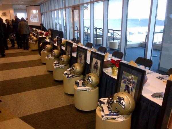 #ZipsGameday Photo Akron Zips Football awards banquet.