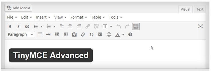 TinyMCE Advanced - редактор WYSIWYG для WordPress