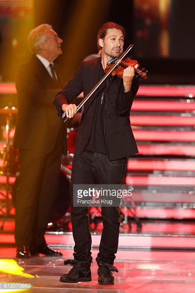 News Photo : German violinist David Garrett during the tv show...