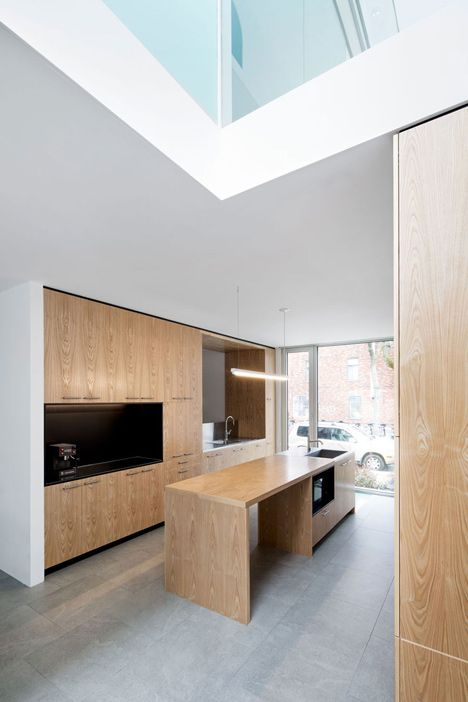 This three-storey house was built as the home for family of four, but it also contains a small home office.