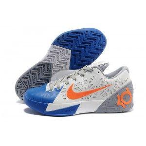New Nike KD V White Grey Blue Orange