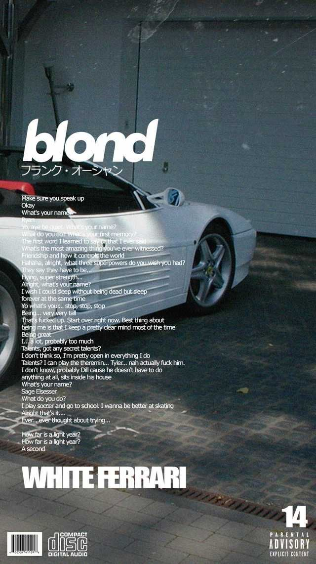 Blonde Alternative Song Covers Phone Wallpapers English Version Imgur Frank Ocean Wallpaper Frank Ocean Cover Art Design