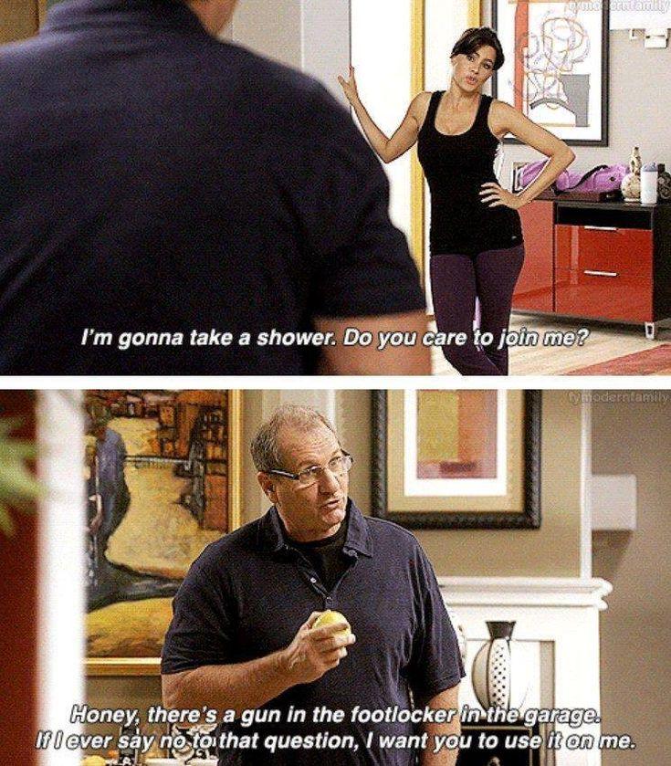 Modern Family Memes family, Funny, Guns, Movie, Shower