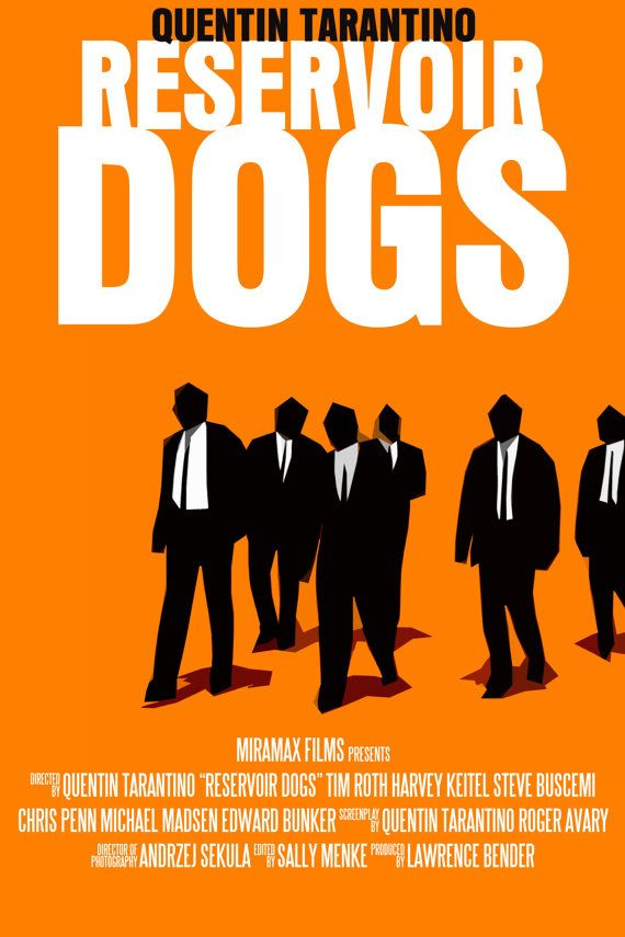 Quentin Tarantino Movie Poster Set: Reservoir Dogs / Inglourious Basterds / Jackie Brown