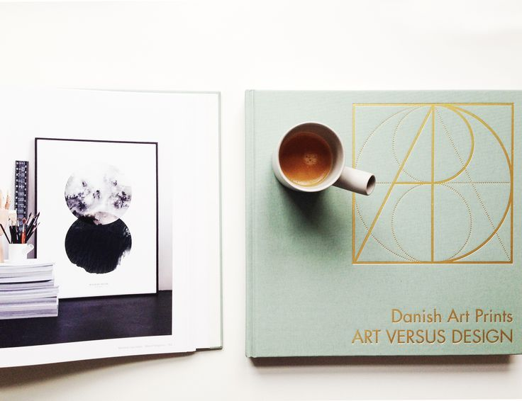 """""""Danish Art Prints - Art versus Design"""" coffee table book featuring the work of 66 Danish artists and graphic designers."""