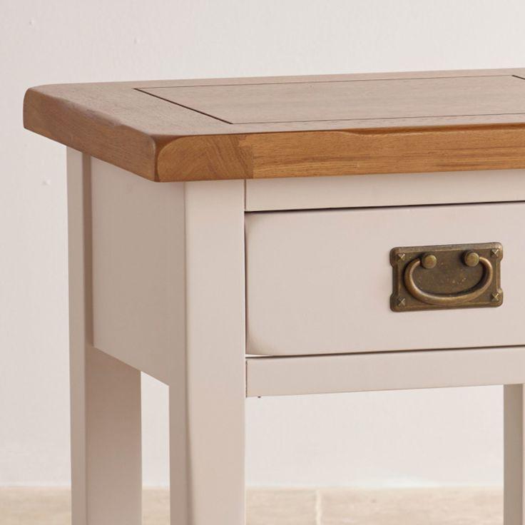 Kemble Solid Oak Bedside Lamp Table