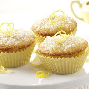 Lemon Sparkle Cupcakes  Lemon Sparkle Cupcakes Recipe      Prep: 15 min. Bake: 20 min. + cooling     Yield: 15 Servings Ingredients     2/3 cup shortening     1 cup sugar     3 eggs     1-2/3 cups all-purpose flour     2-1/2 teaspoons baking powder     1/2 teaspoon salt     2/3 cup 2% milk     1 tablespoon grated lemon peel     TOPPING:     1/4 cup sugar     1 tablespoon grated lemon peel     1/8 teaspoon ground nutmeg