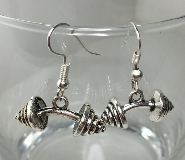 6.99$ Bending Barbell Earrings | Motivational Fitness Jewelry - Miss Fit Boutique