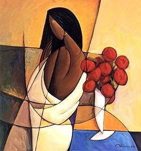Quiet Beauty #african american #woman #painting #art