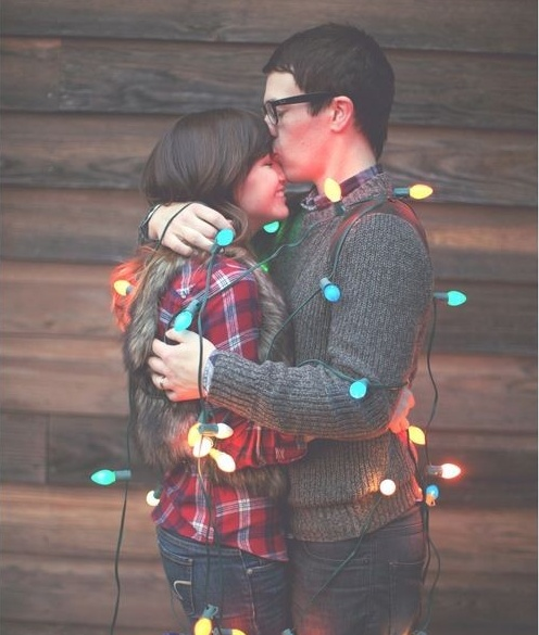 this would make such a cute christmas card if you enjoy tangling yourself in chrismas lights...like normal people obviously