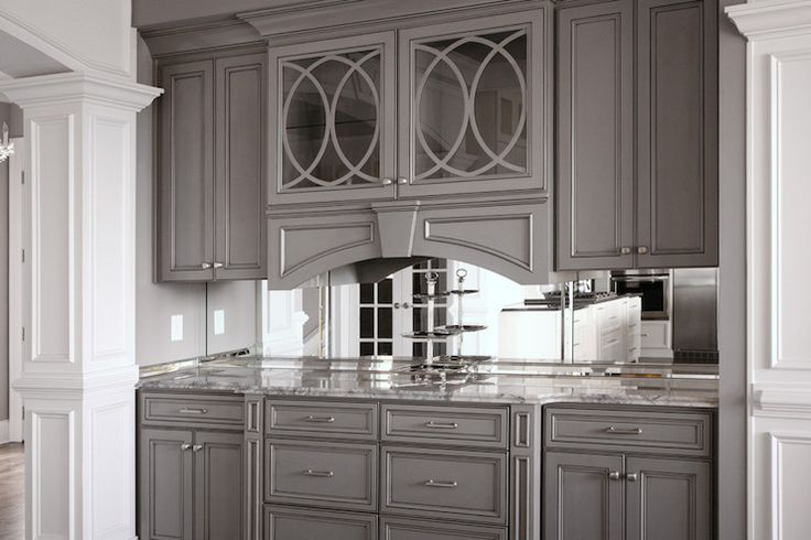 Amazing Gray Butler 39 S Pantry Features Eclipse Mullion