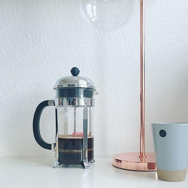 Daheim Homesweethome Frenchpress Bodum Butfirstcoffee Sonntags Kaffee Kupferliebe