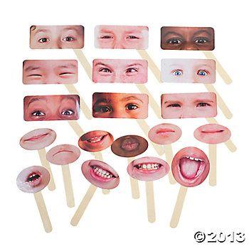 20 Emotions Half Masks - neat idea for social tx