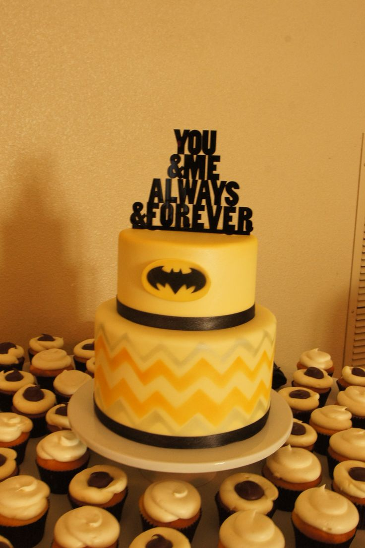 Batman themed wedding cake