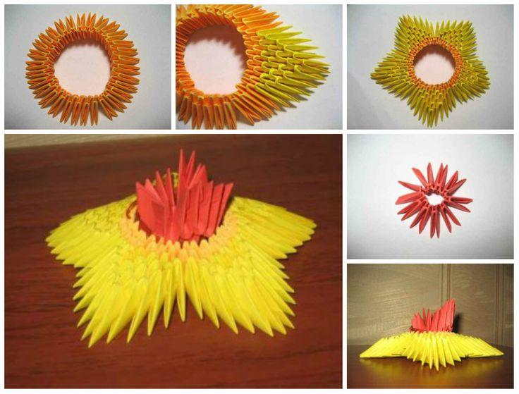 Модульное оригами вечный огонь - готовый пример