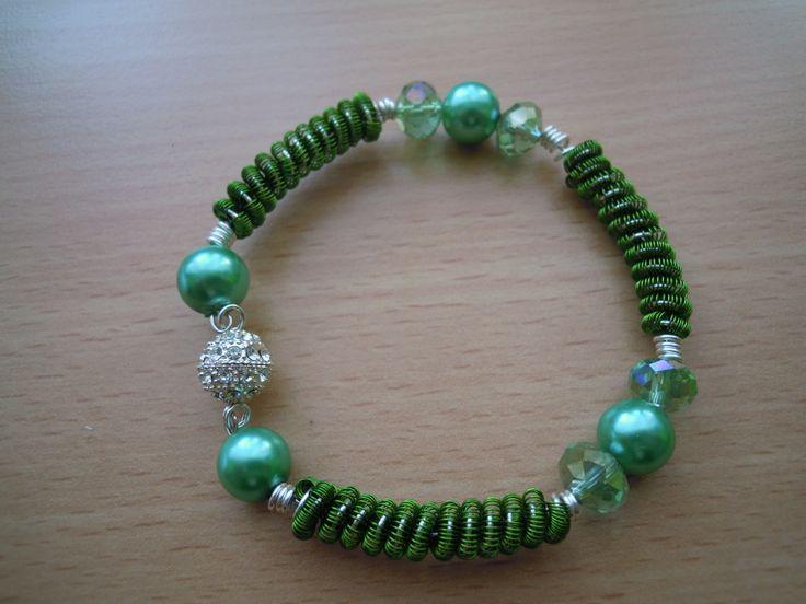 green wire spiral