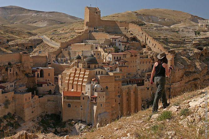 St. Saba Monastery near Al-Ubeidiya.