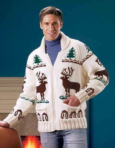 The Reindeer is back and retro is in! Knit the first Mary Maxim sweater and a piece of history.