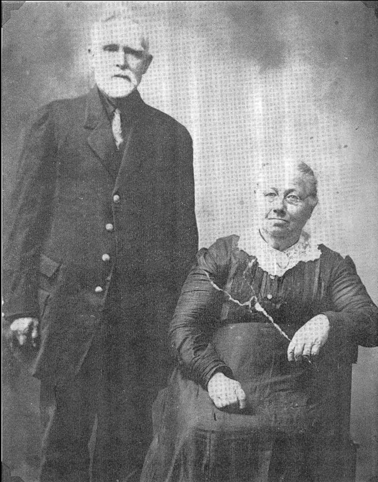 Joseph Benton Sawyer, 2nd Michigan Cavalry, with wife Elmira, 50th wedding anniversary. Read about his Civil War service here:  http://franklindescendants.wordpress.com/2013/06/06/joseph-benton-sawyer-co-i-2nd-michigan-cavalry/