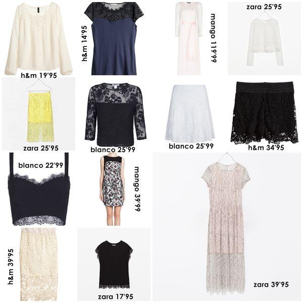 encaje en tiendas low cost. tendencia primavera/verano 2014. by anitatxu